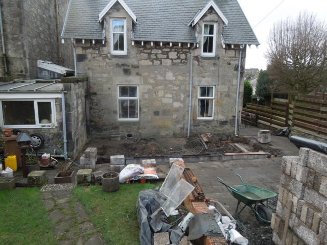 Existing house prior to work starting