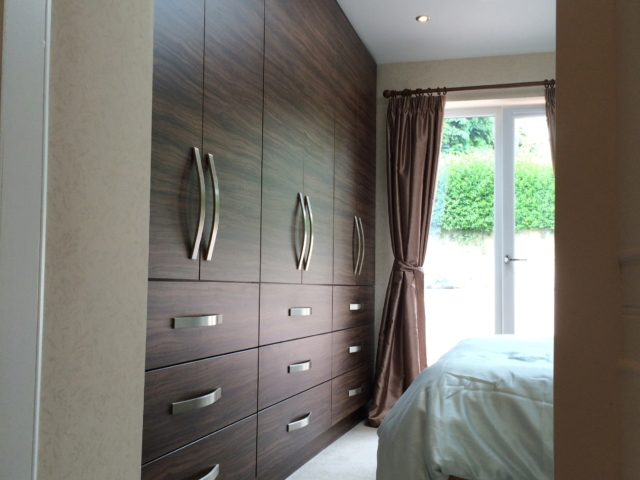 Master bedroom fitted wardrobes