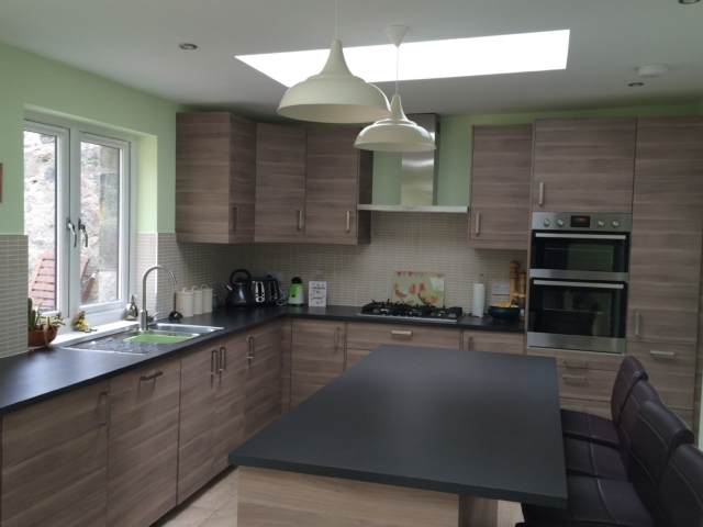 New Kitchen with rooflights