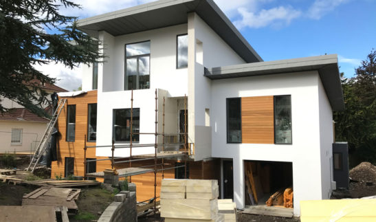 contemporary replacement dwelling self build