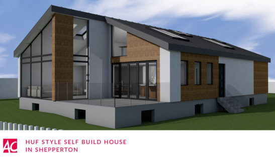 huf style self build house shepperton