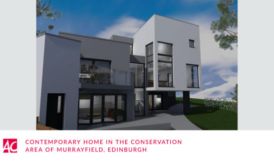 contemporary home conservation area edinburgh