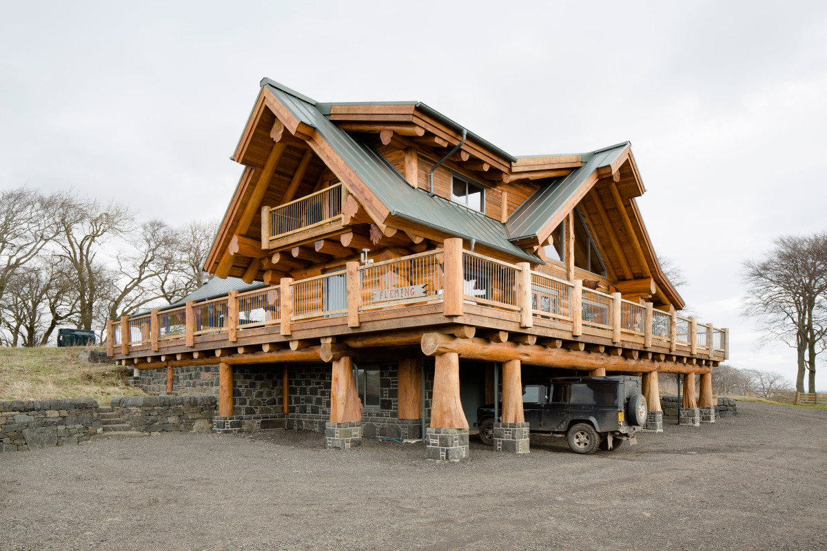 log homes self build